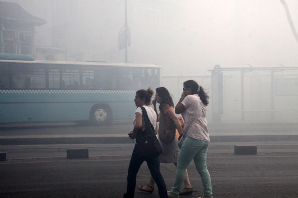 Kadıköy duman altında