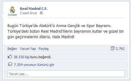 Real Madridden 19 Mayıs Kutlaması