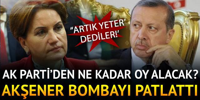 Meral Akşener, AK Parti'den ne kadar oy alacağını açıkladı