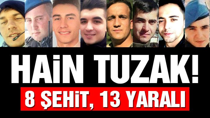Afrin Keltepe'de hain pusu! 8 şehit 13 yaralı