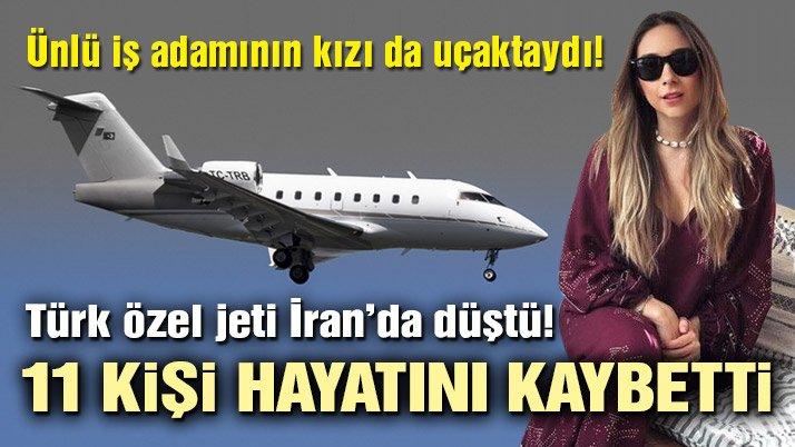 Türk uçağı İran'da düştü