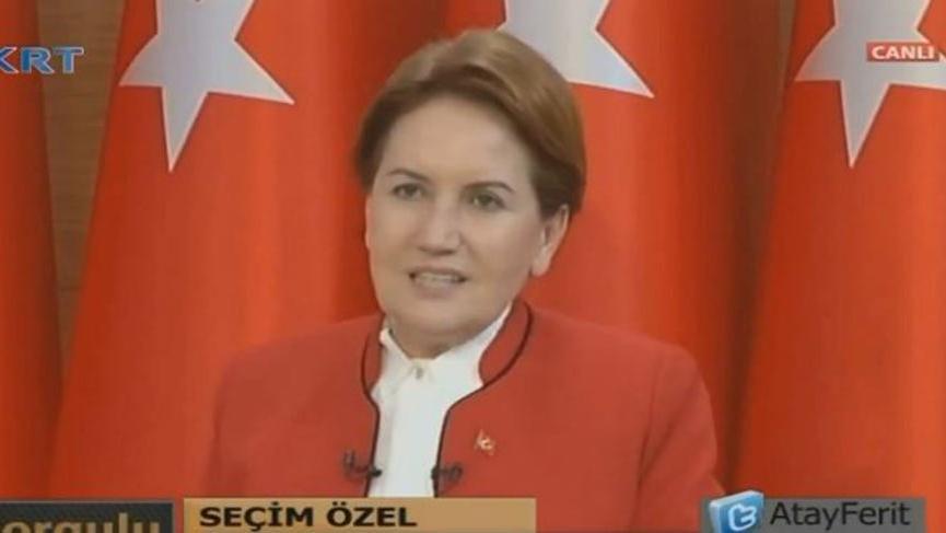 """Meral Akşener """"Anket sonucu Tayyip bey ikinci tura kalıyor"""""""