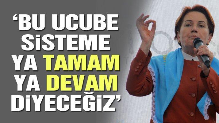 Meral Akşener Karabük'te konuştu