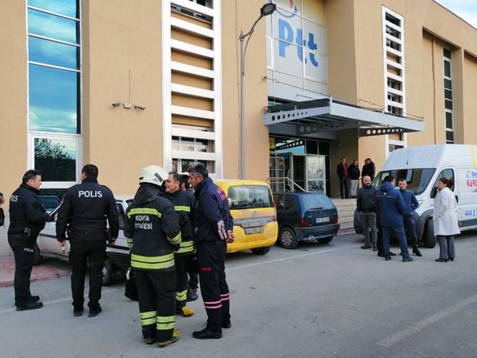 Konya'da PTT merkezinde patlama: 2 yaralı