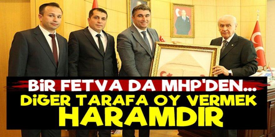 """MHP'li Başkan Hüseyin Tosun: """"Diğer tarafa oy vermek haramdır"""""""