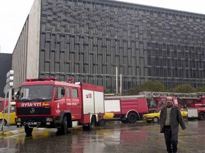 Atatürk Kültür Merkezinde Yangın