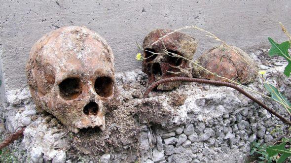 Temel kazısında iskeletler bulundu