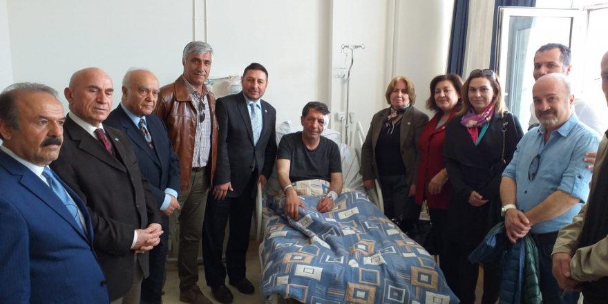 YAD Ankara şubesi Yavuz Selim Demirağ'a geçmiş olsun ve destek ziyaretinde bulundu