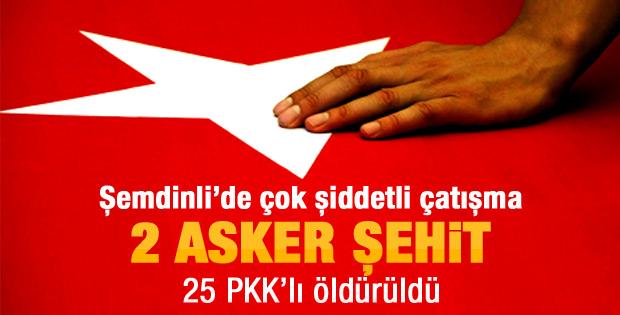 Şemdinlide 2 şehit! Çok sayıda PKKlı öldürüldü