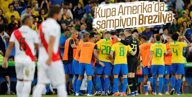 Copa America'da kupa Brezilya'nın