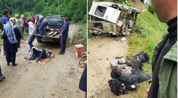 Giresun'da yolcu minibüsü dereye devrildi: 5 ölü 6 yaralı