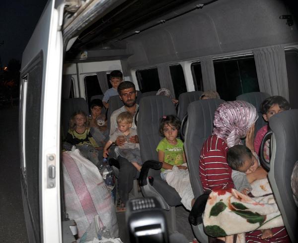 527 Suriyeli Türkiyeye Sığındı