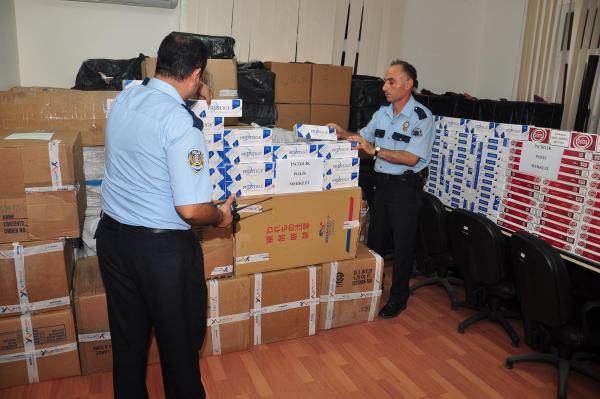 50 Bin Paket Kaçak Sigara Ele Geçirildi