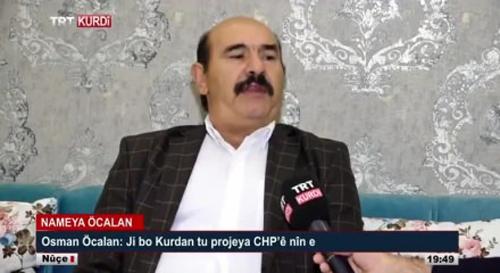 Hakkında yakalama kararı olan Öcalan'ı TRT'ye çıkarmak ifade özgürlüğü sayıldı
