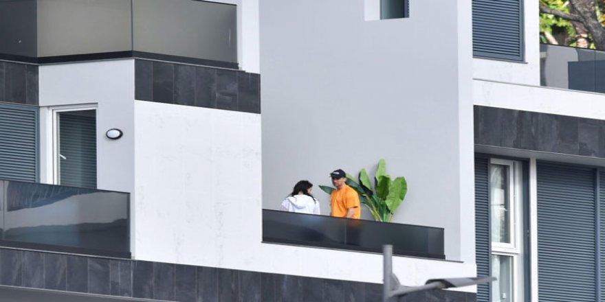 Cristiano Ronaldo karantina evinde görüntülendi