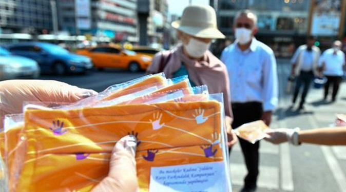 Başkent'den kadına şiddete karşı yükselen yanıt: Turuncu maske