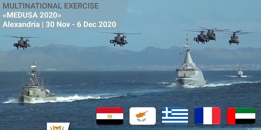 Doğu Akdeniz'de Mısır, BAE, Fransa, Yunanistan ve Güney Kıbrıs'tan ortak tatbikat