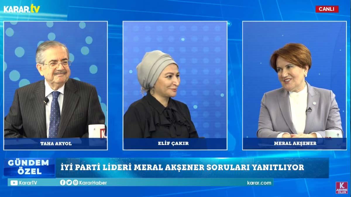 Akşener, Erdoğan'ı Perinçek üzerinden eleştirdi