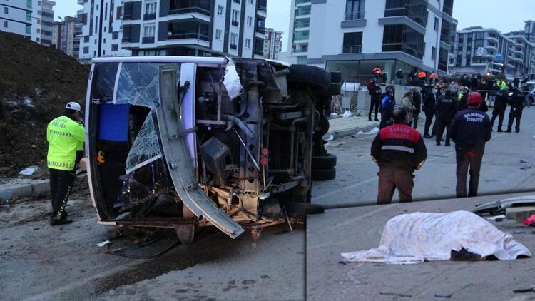 Samsun'da belediyenin servis aracı devrildi: 2 Ölü, 20 yaralı
