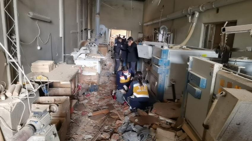 Bursa/İnegöl'de fabrikada patlama: Bir ölü, 6 yaralı