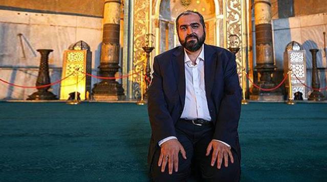 Ayasofya başimamı Mehmet Boynukalın istifa etti.