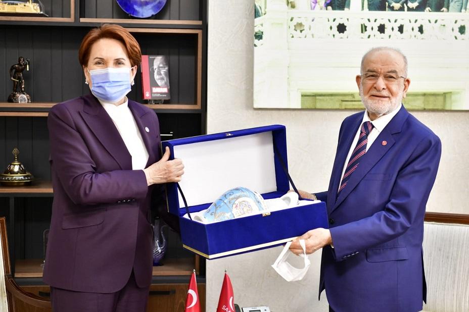 Meral Akşener'den Saadet Partisi'ne 'hayırlı olsun' ziyareti