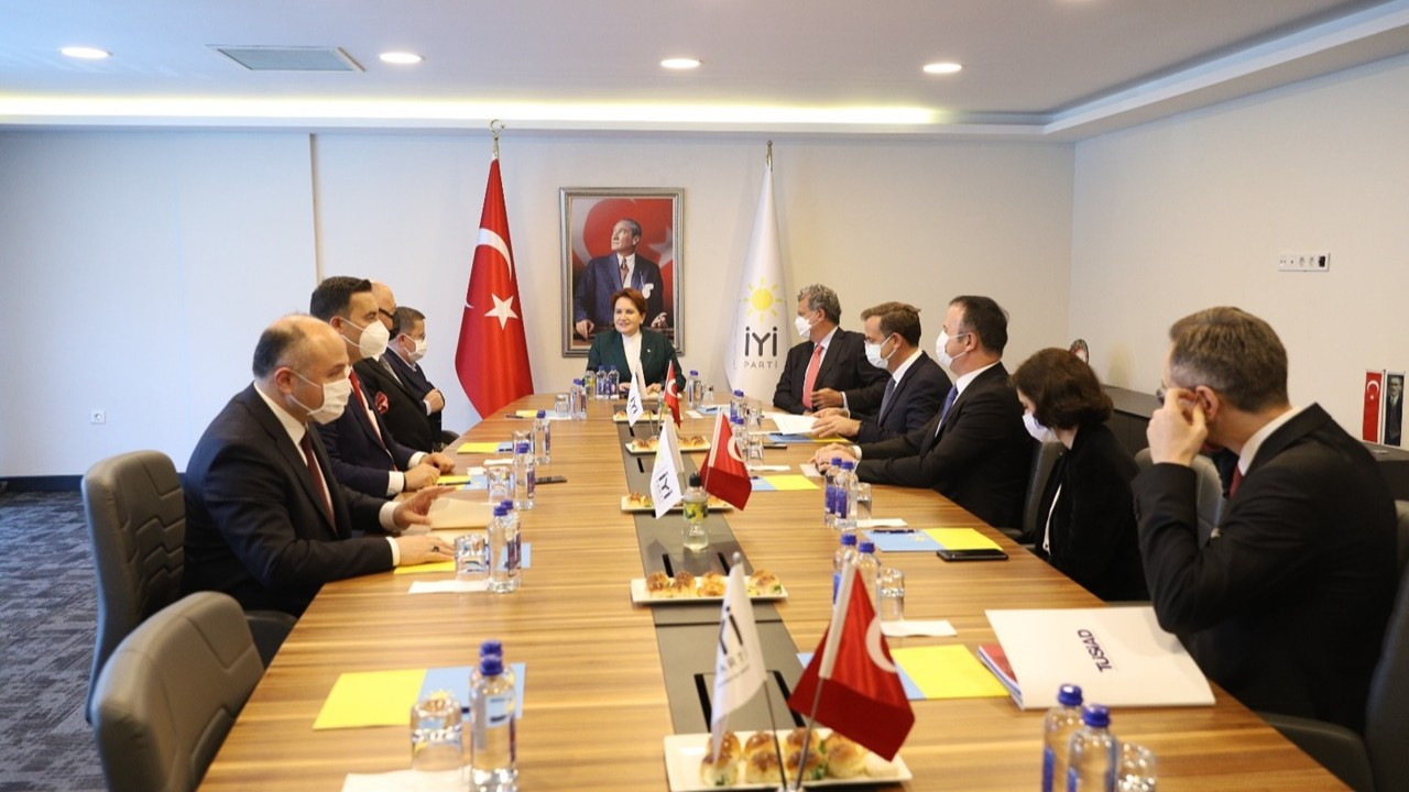 Akşener, TÜSİAD Başkanı ve üyeleriyle görüştü