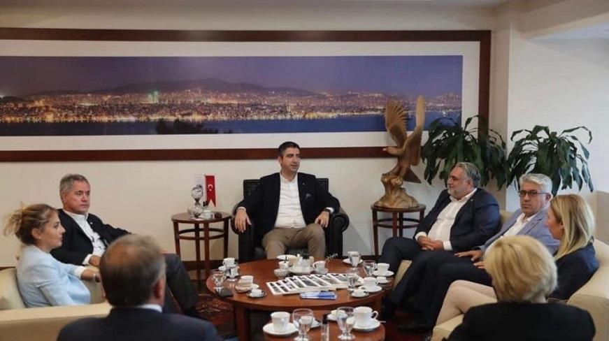 İYİ Partili Erhan Özkan'dan Kartal Belediye Başkanı Yüksel'e ziyaret