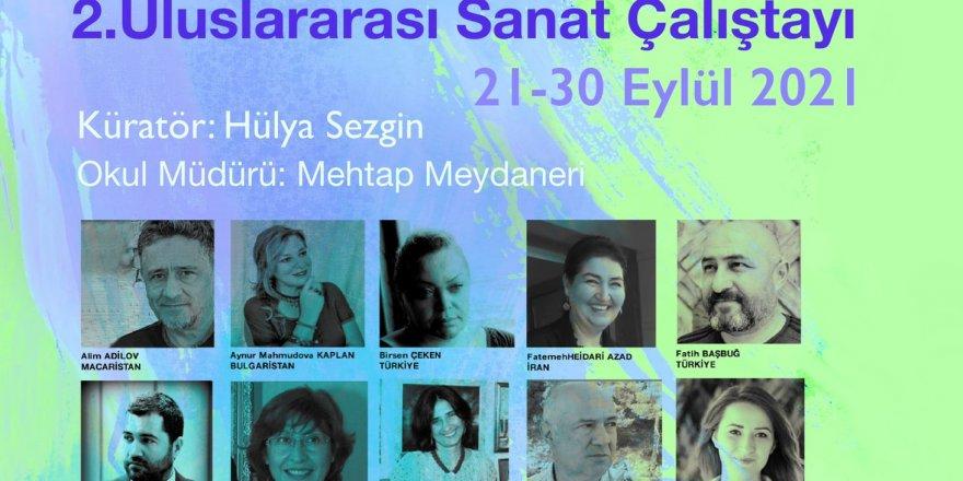 Hülya Sezgin'den Çankırı Selahattin İnal Güzel Sanatlar lisesi'nde ikinci uluslararası resim çalıştayı...