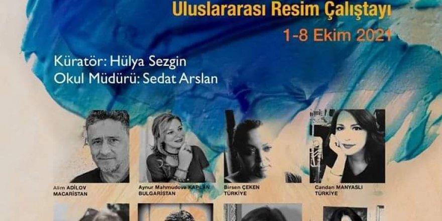 Hülya Sezgin'den pandemide peşpeşe ikinci uluslararası resim çalıştayı...