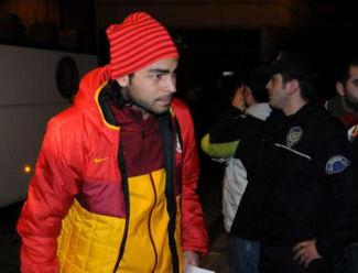 Galatasaraya gergin karşılama