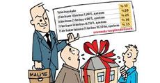 Para, bağış alana yüzde 35 vergi