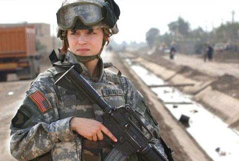 ABD kadınları da cepheye sürüyor