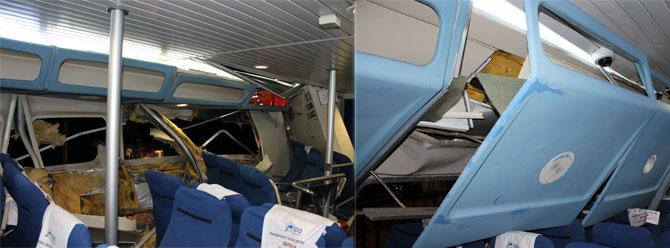 Boğazda deniz otobüsü kazası