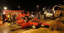 Trafik canavarı akşam mesaisindeydi: 3 ölü, 2 yaralı