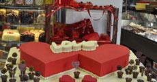 Sevgililer Gününe özel pasta