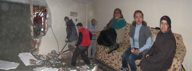 Hazır beton oturma odalarına doldu