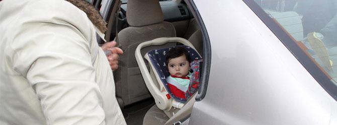 10 aylık bebeği itfaiye kurtardı