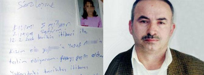 Kızını satan baba yakalandı