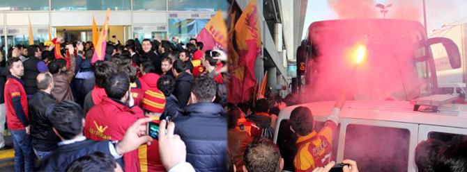 Galatasaraya coşkulu karşılama!