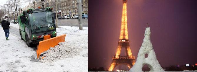 Fransa karlar altında