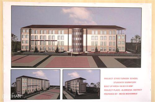 Etiyopyadaki Türk Okullarının Yeni Yurt Binasının Temeli Atıldı