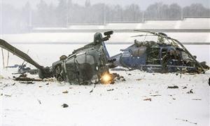İki polis helikopteri havada çarpıştı