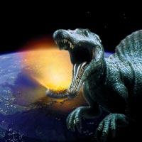 Kuyruklu yıldız düştü dinozorlar yok oldu