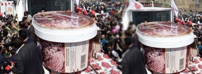 Guinness Rekorlar Kitabına 5 tonluk dondurma