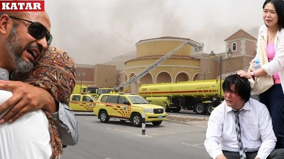 Katarda Avm Yangını