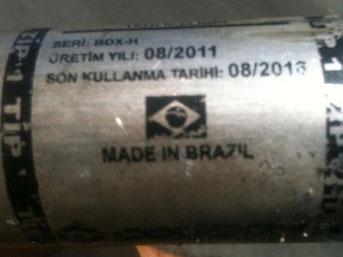 1 Mayısa Brezilya gazı sıkıldı