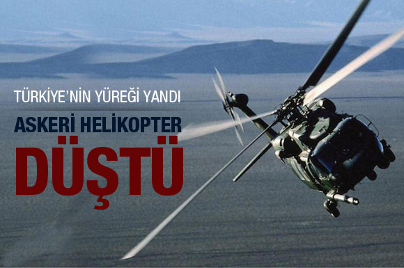 Hakkaride askeri helikopter düştü