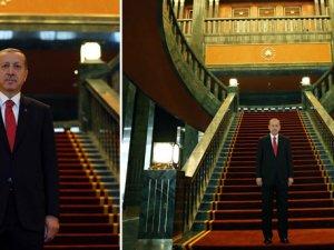 Erdoğanın oval ofisli yeni sarayı