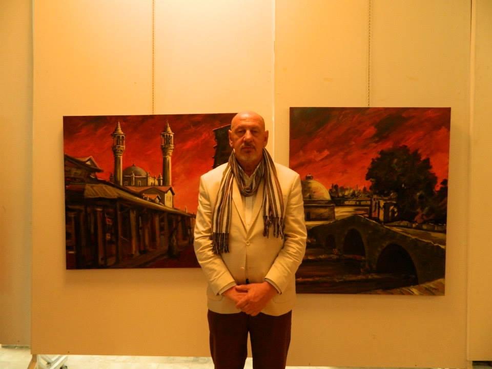 Ünlü şair-ressam Ethem Baymak İstanbulda